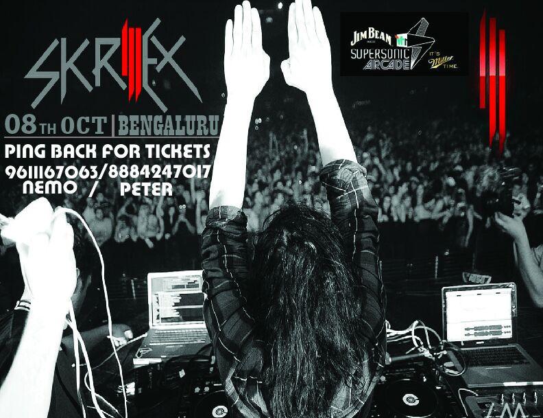 Vh1 Supersonic Arcade: Skrillex India Tour-Banglore